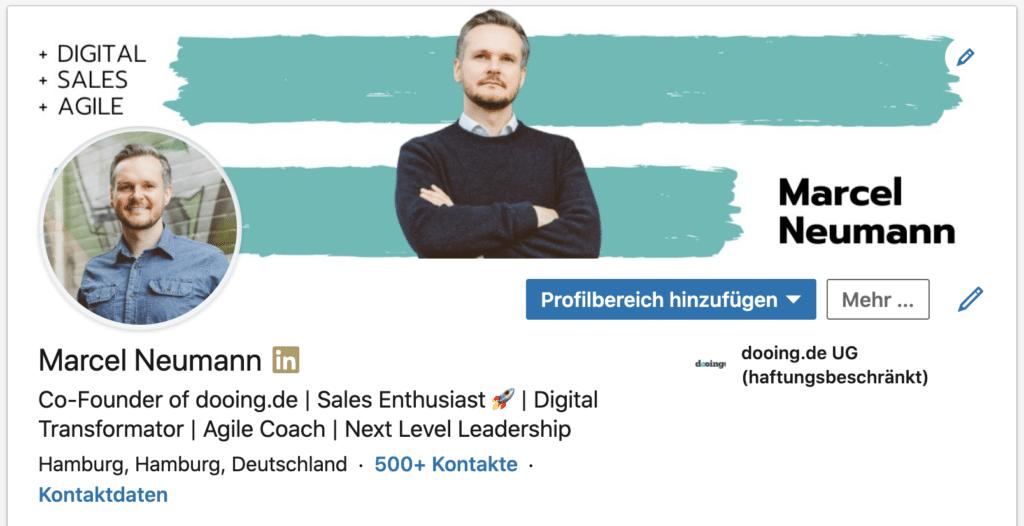 LinkedIn Profil Marcel